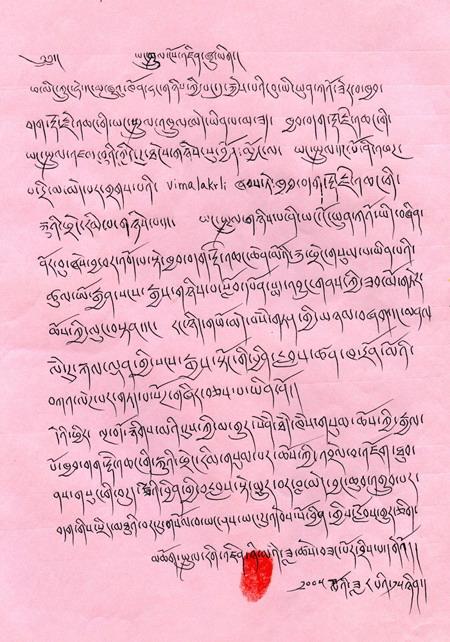 仁增尼玛法王认证第三世多杰羌佛 第2张
